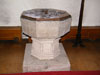Late 12th century font with 19th century base
